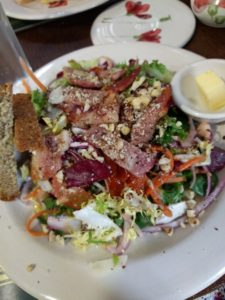 Bacon & Pear Salad at Ballydougan Pottery