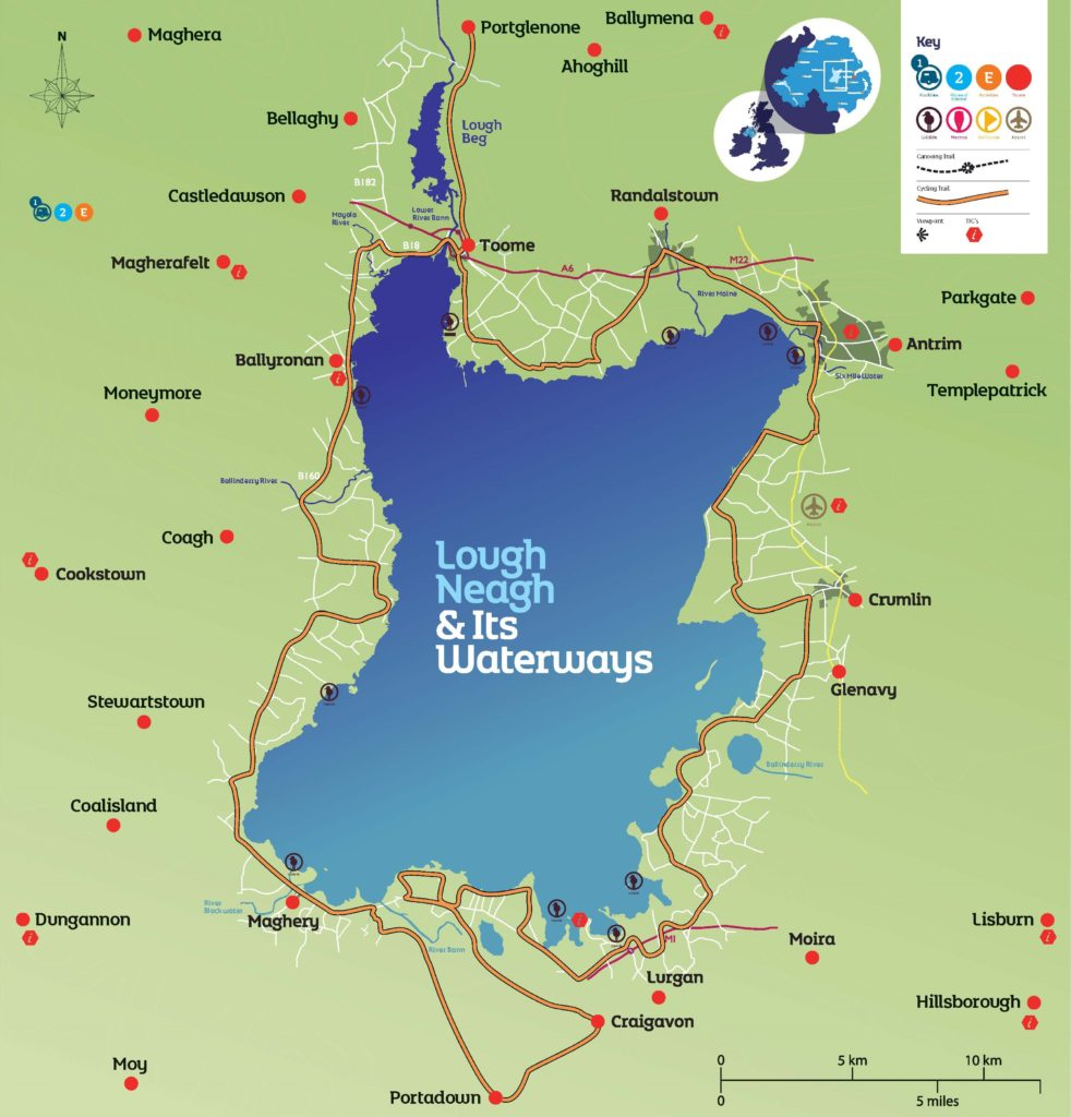 Lough Neagh & Its Waterways Destination Map