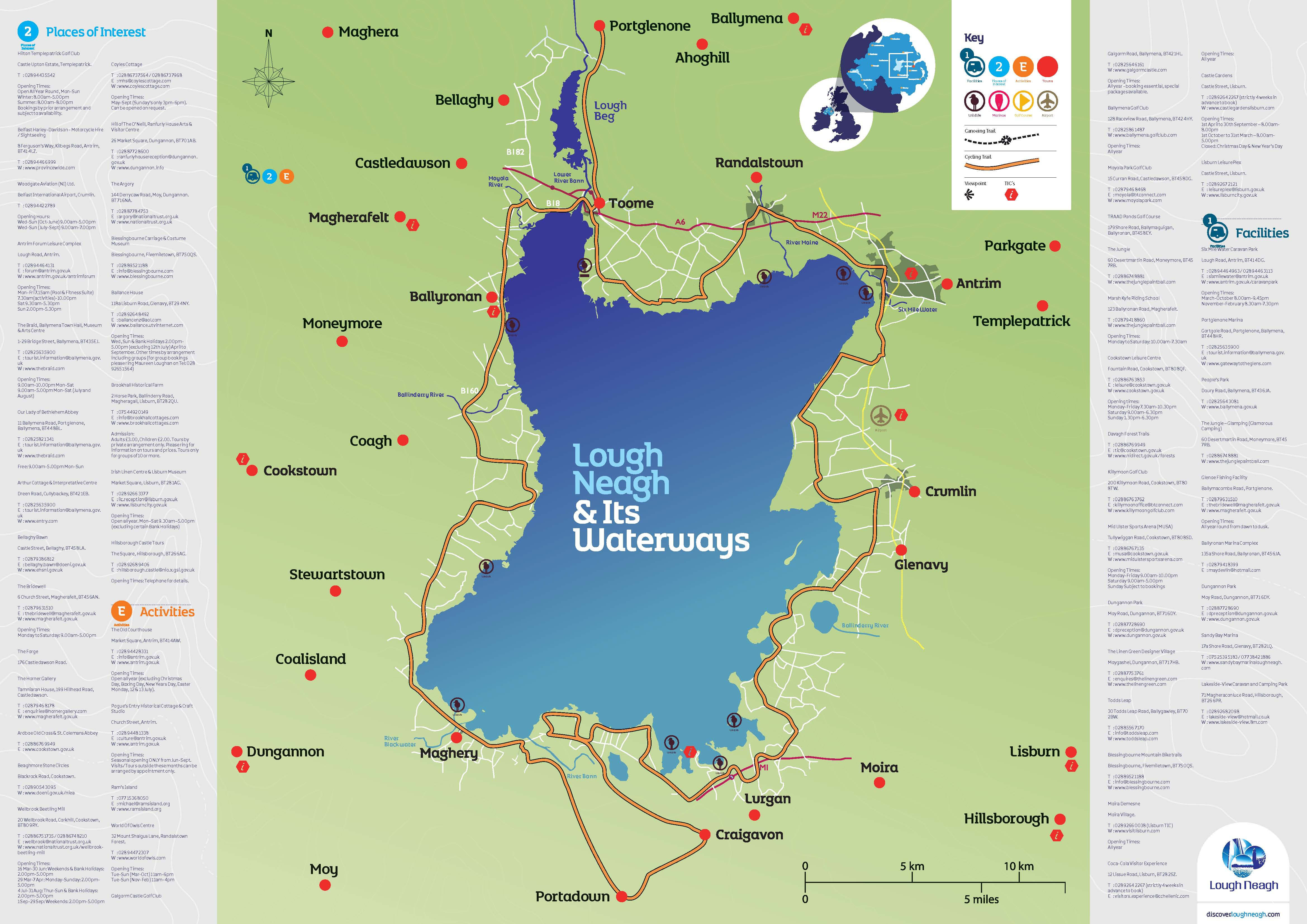 Lough Neagh& Its Waterways Map